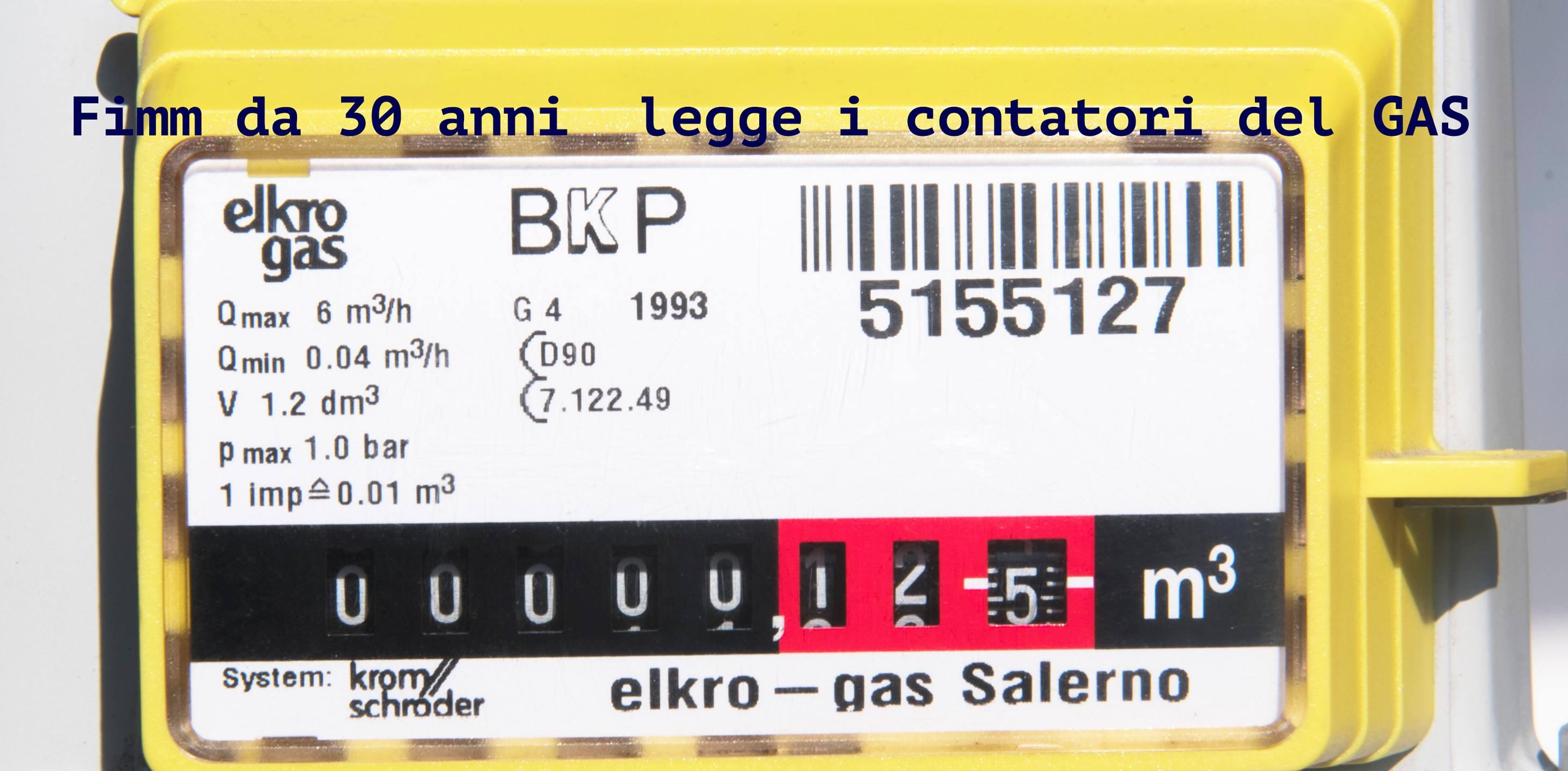 lettura contatori del gas