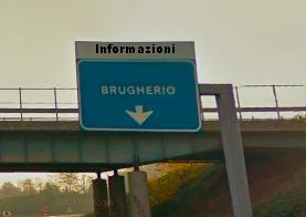 Cartello stradale Brugherio