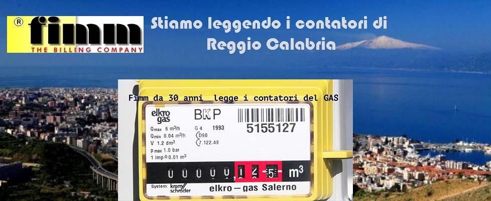 Lettura contatori del gas a Reggio Calabria