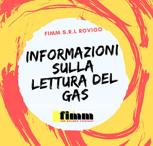 informazioni sulla lettura dei contaotri del gas FIMM