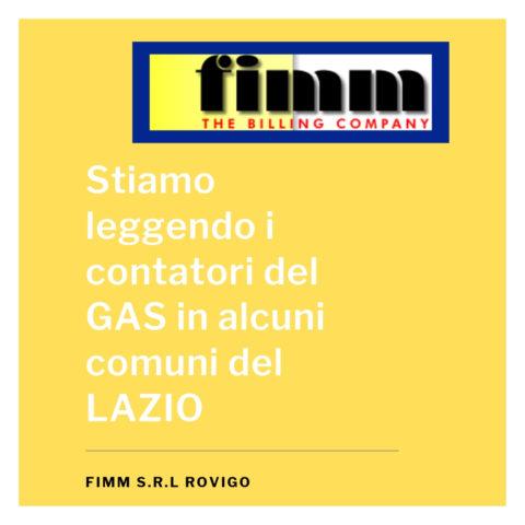 lettura contatori del gas Lazio maggio