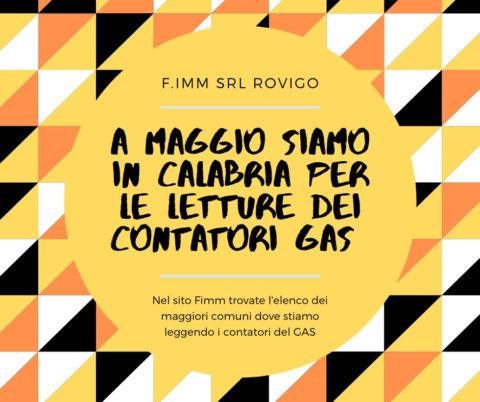 lettura contatori del GAS Calabria