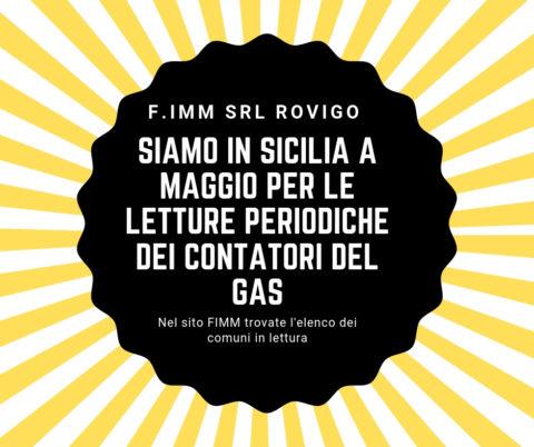 lettura contatori del GAS Sicilia maggio